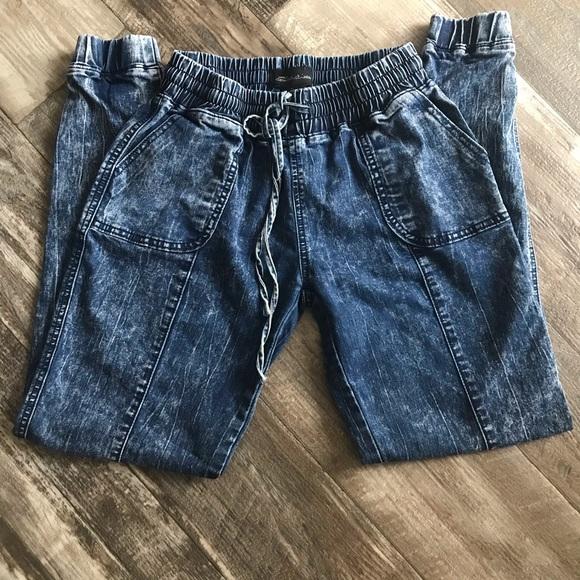 Seductions Denim - 3/$20 Seductions   Women Acid wash joggers jeans S